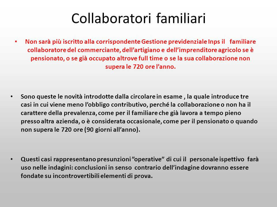 Collaboratori familiari