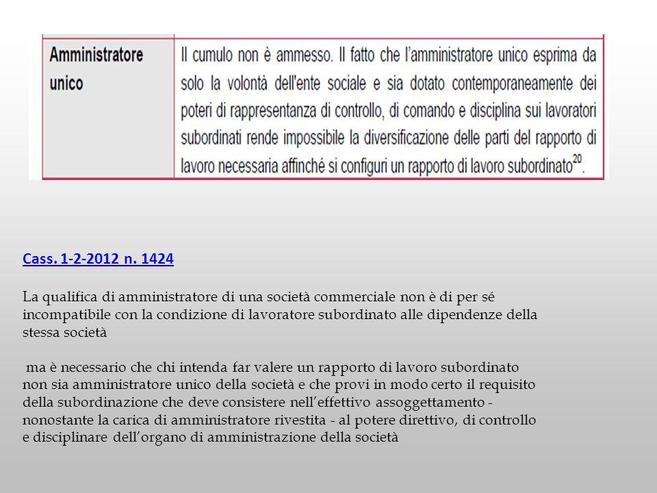 Cass. 1-2-2012 n. 1424
