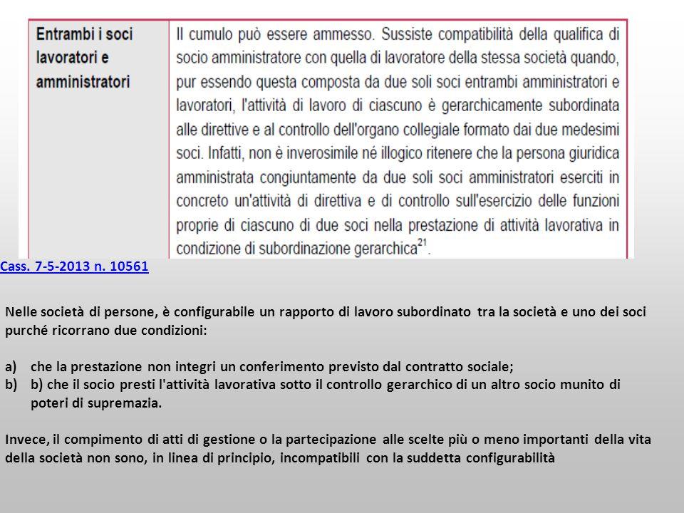 Cass. 7-5-2013 n. 10561