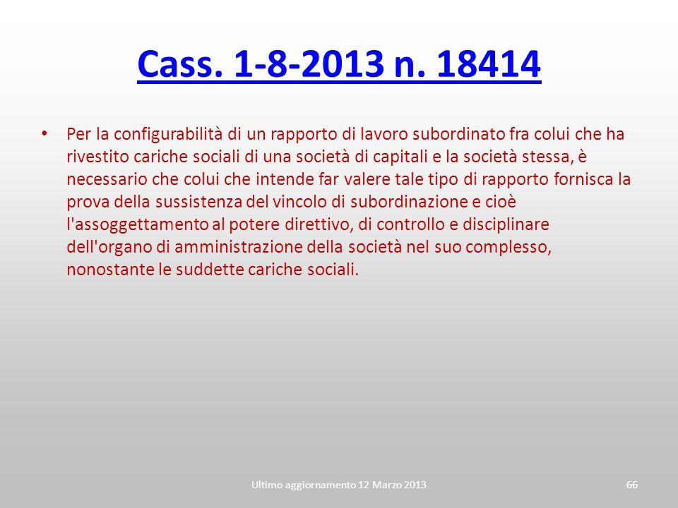 Ultimo aggiornamento 12 Marzo 2013