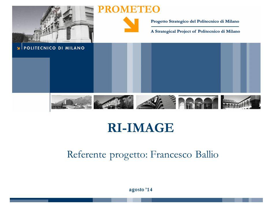 Referente progetto: Francesco Ballio