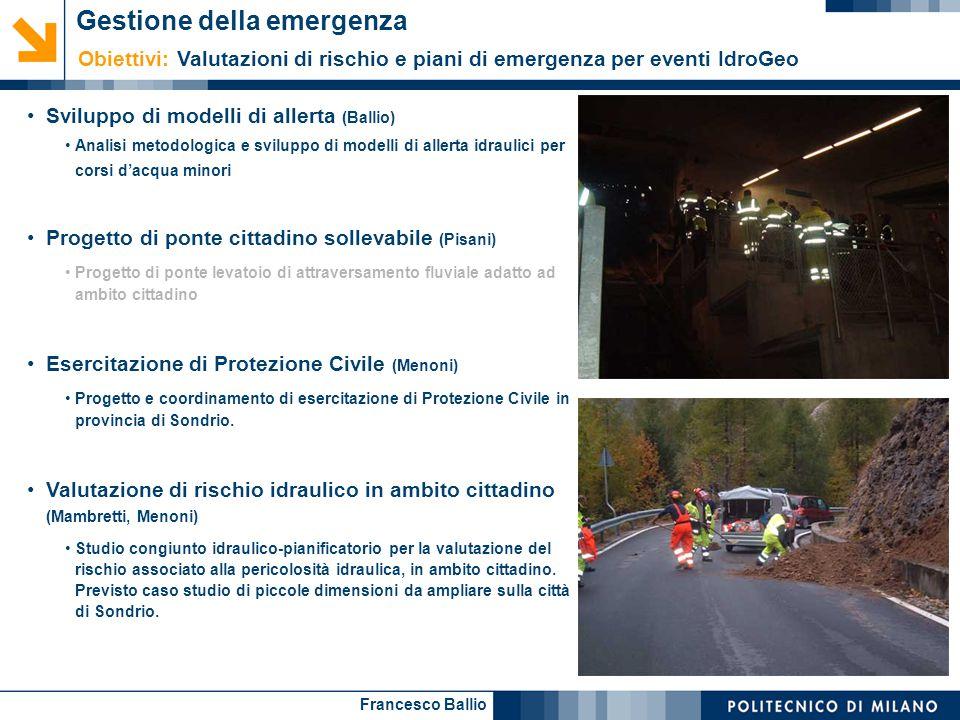 Gestione della emergenza