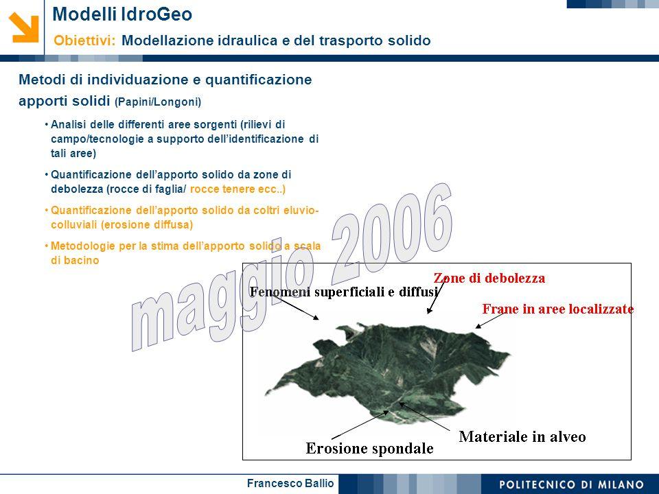 maggio 2006 Modelli IdroGeo