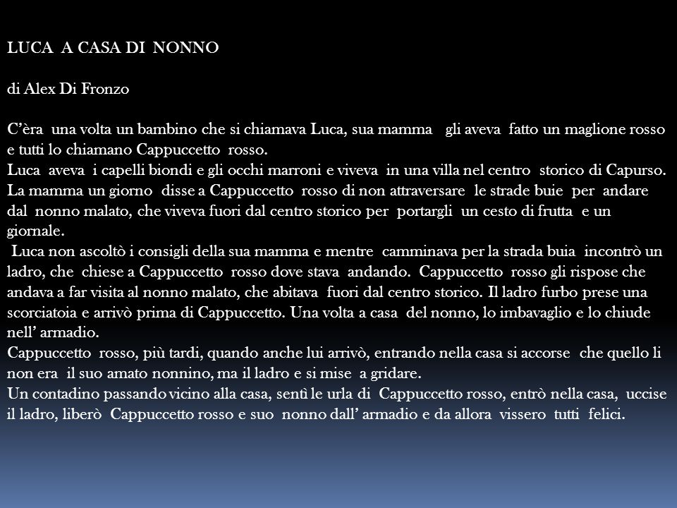 LUCA A CASA DI NONNO di Alex Di Fronzo.