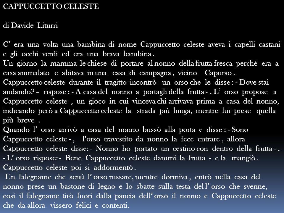 CAPPUCCETTO CELESTE di Davide Liturri.