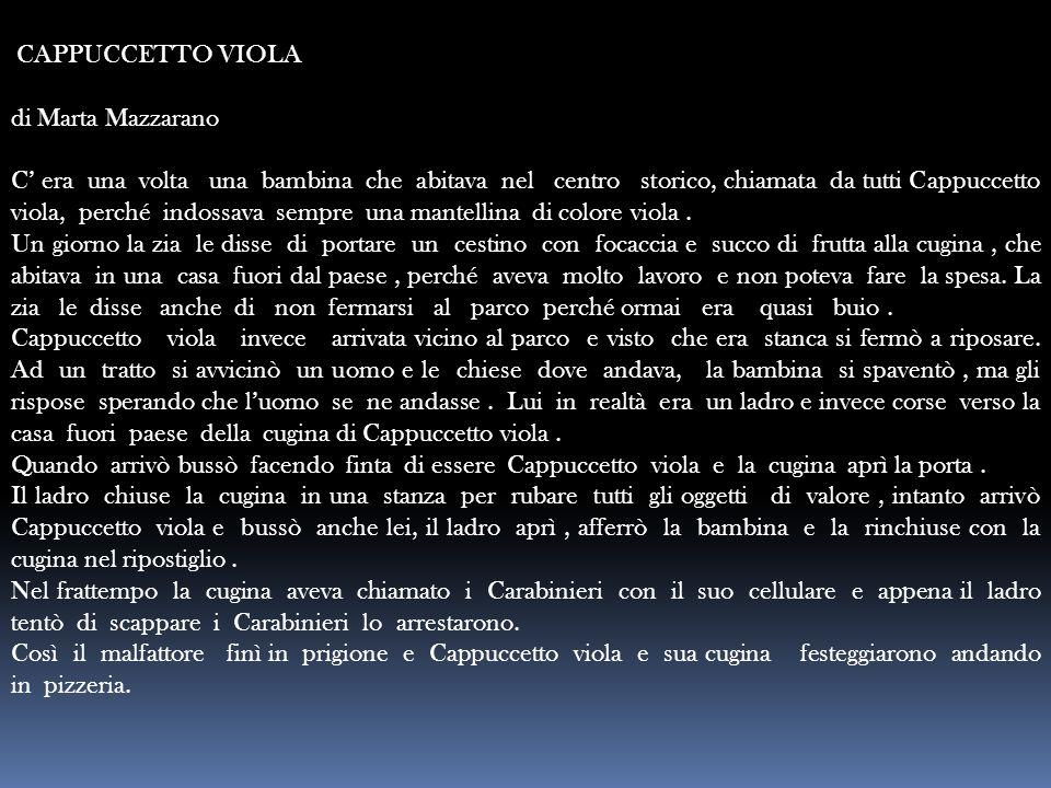 CAPPUCCETTO VIOLA di Marta Mazzarano.