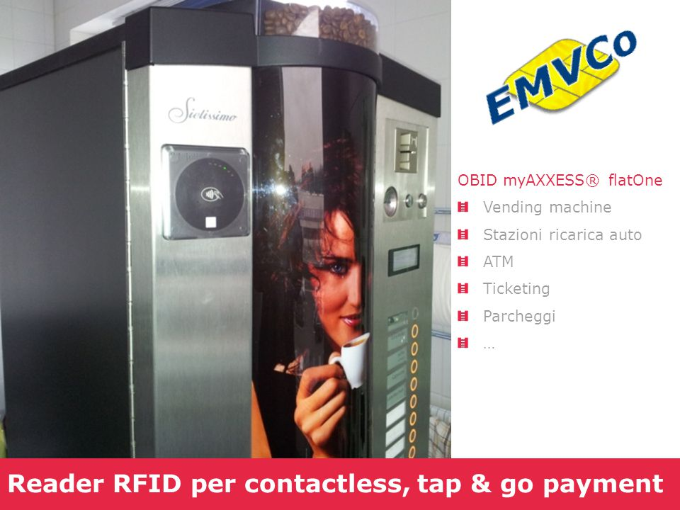 Reader RFID per contactless, tap & go payment
