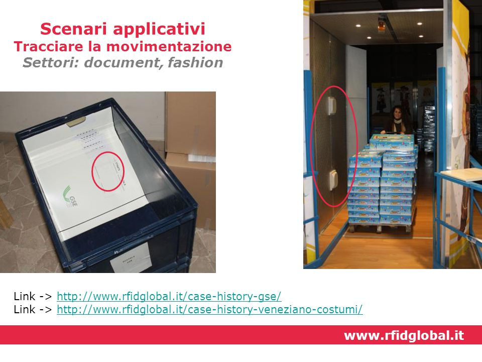 Tracciare la movimentazione Settori: document, fashion
