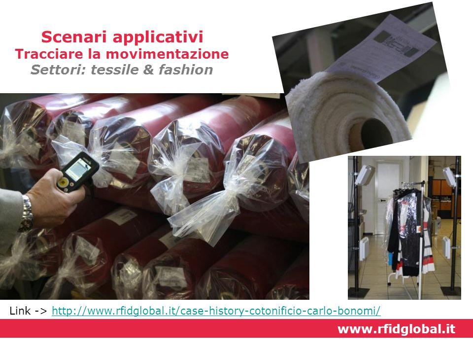 Tracciare la movimentazione Settori: tessile & fashion