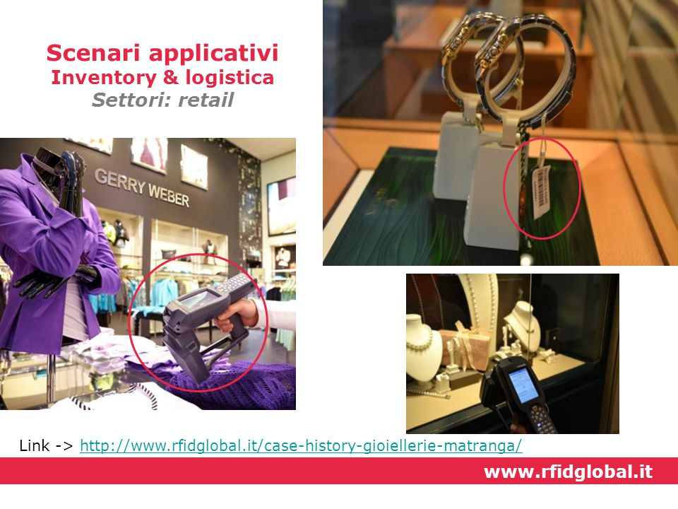 Scenari applicativi Inventory & logistica Settori: retail