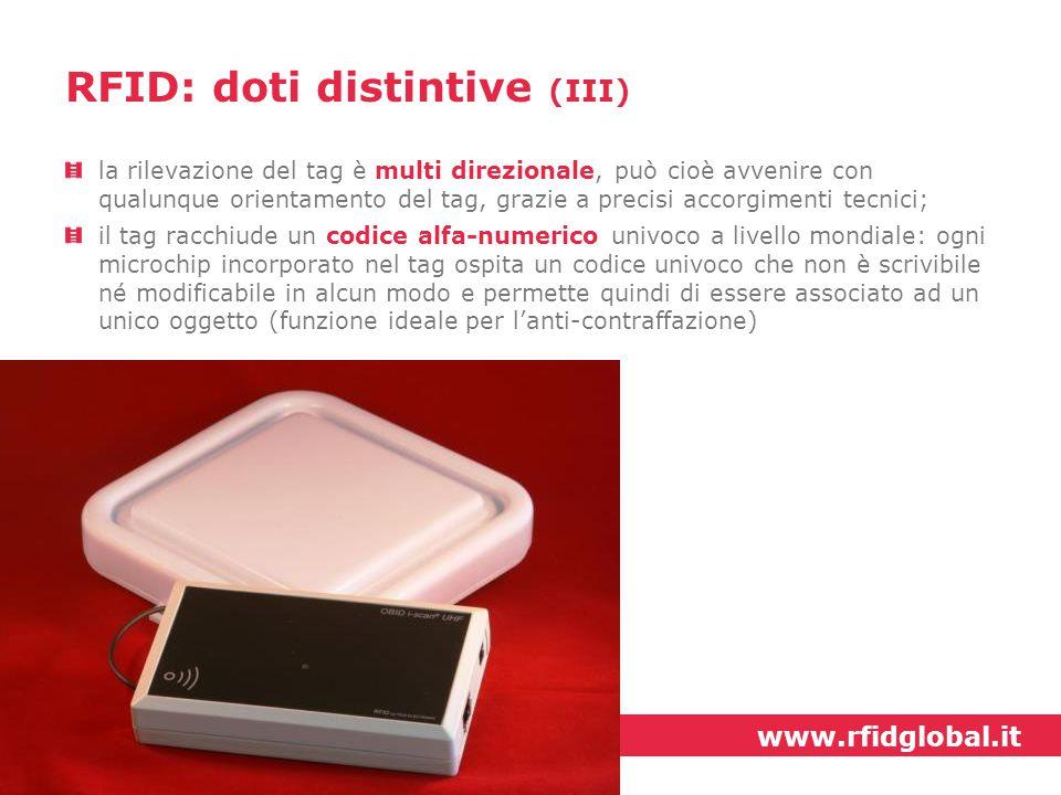 RFID: doti distintive (III)