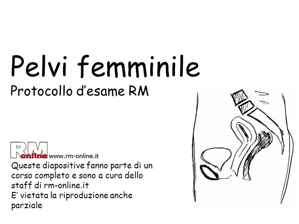 Pelvi femminile Protocollo d'esame RM