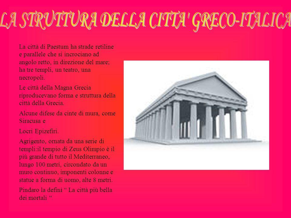 LA STRUTTURA DELLA CITTA GRECO-ITALICA
