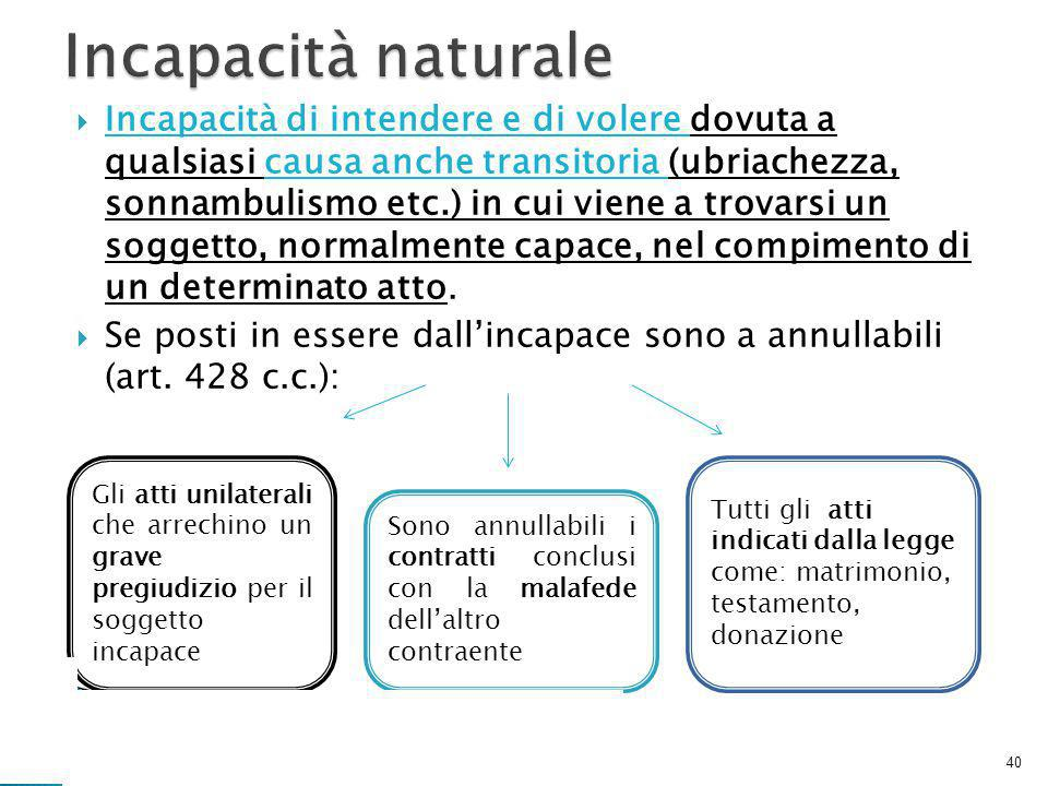Incapacità naturale
