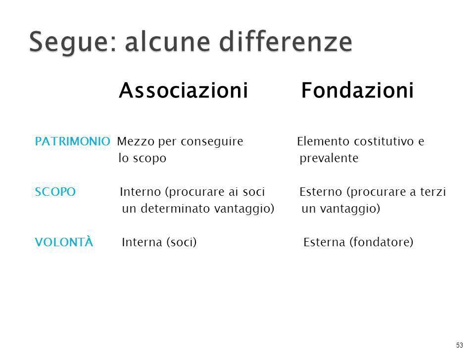 Segue: alcune differenze