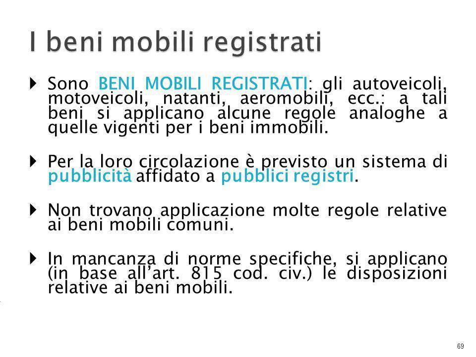 I beni mobili registrati