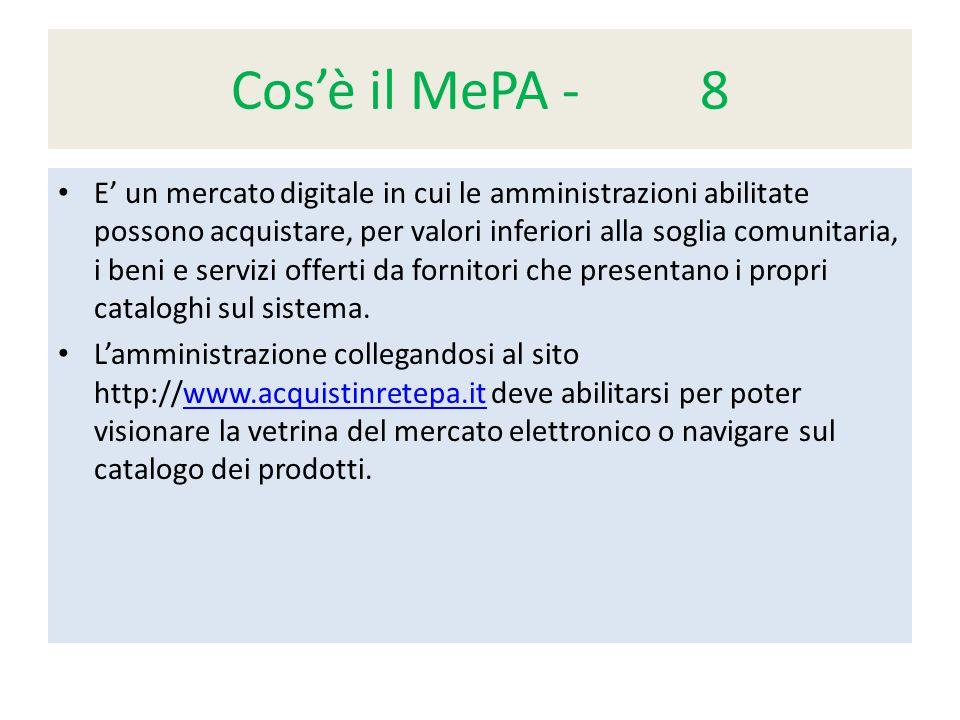 Cos'è il MePA - 8