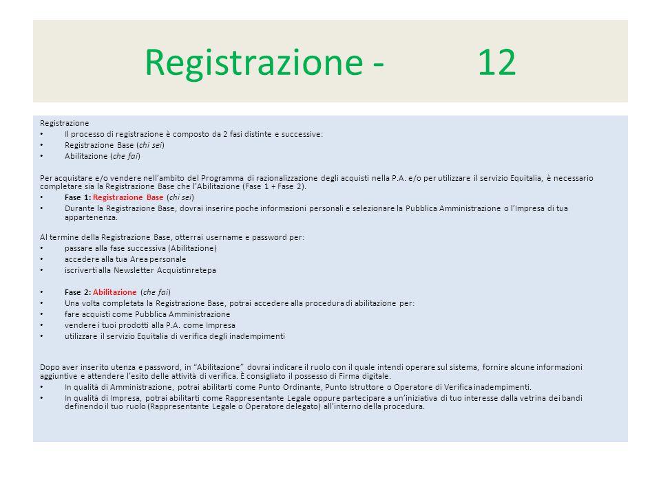 Registrazione - 12 Registrazione