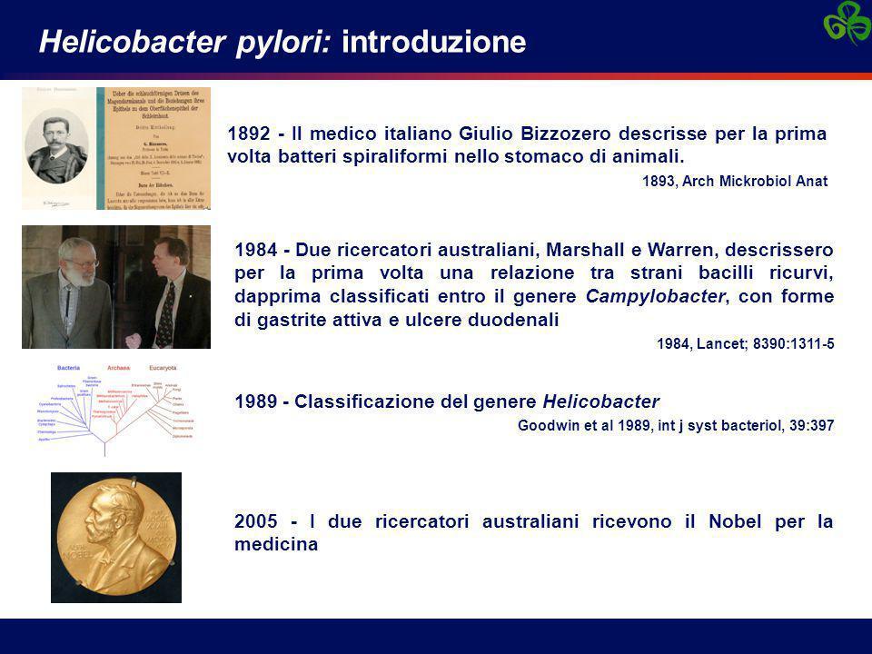 Helicobacter pylori: introduzione