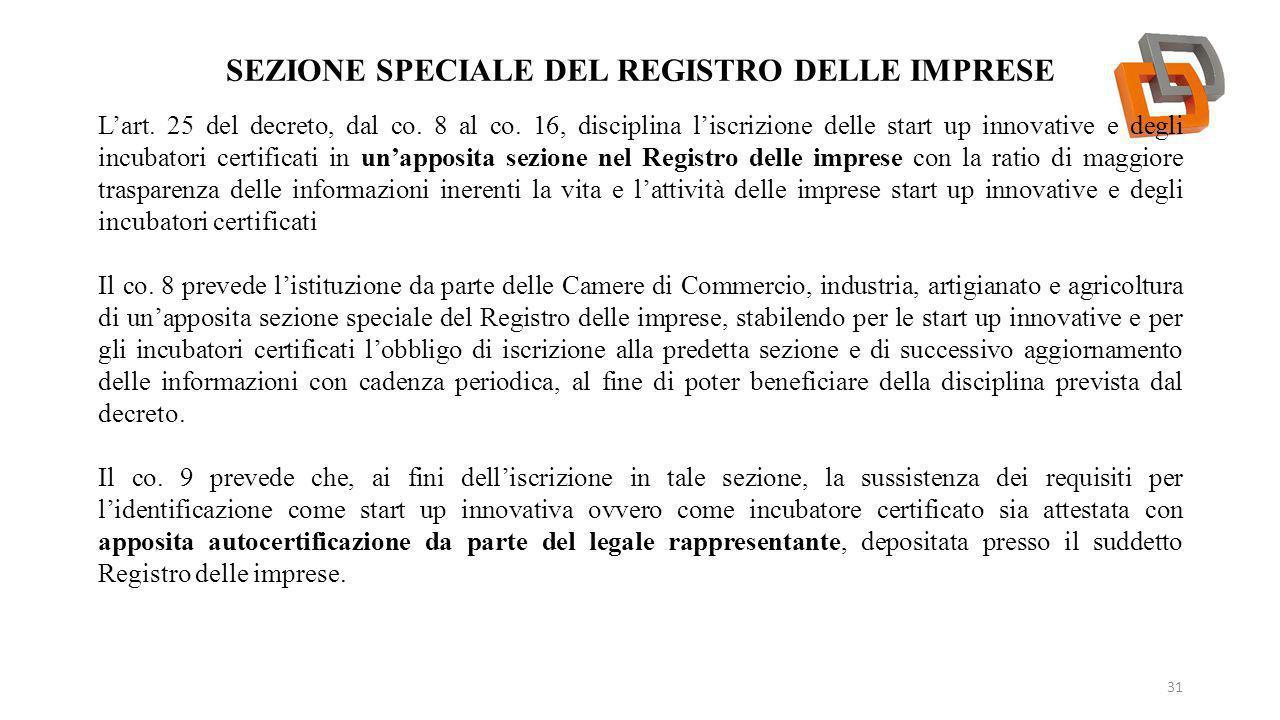 Sezione speciale del Registro delle imprese