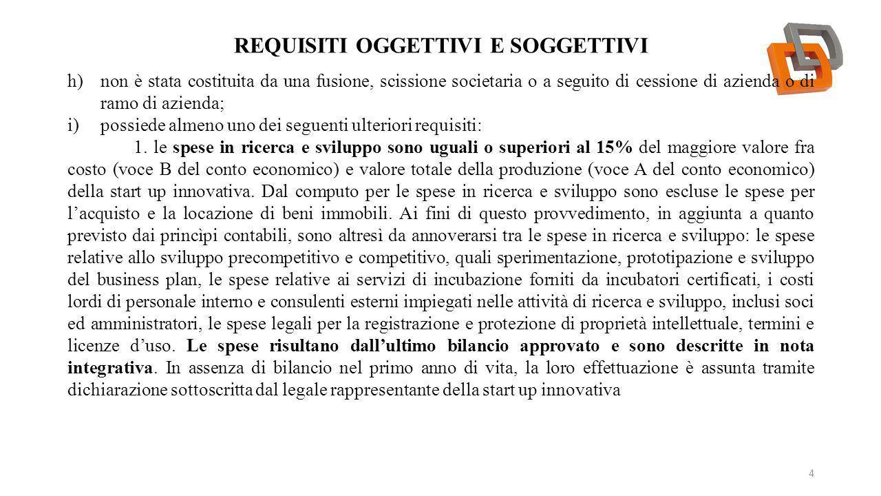 Requisiti oggettivi e soggettivi