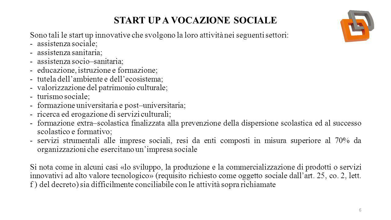 Start up a vocazione sociale