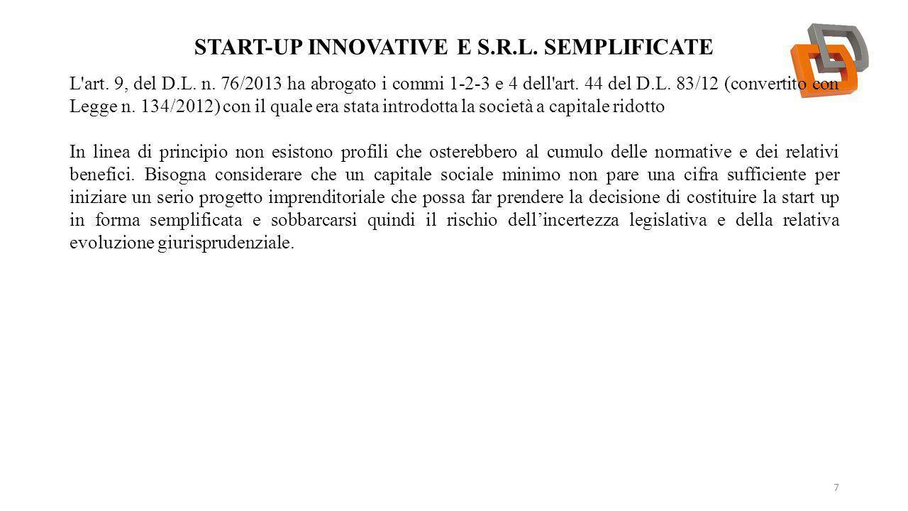Start-up innovative e S.r.l. semplificate