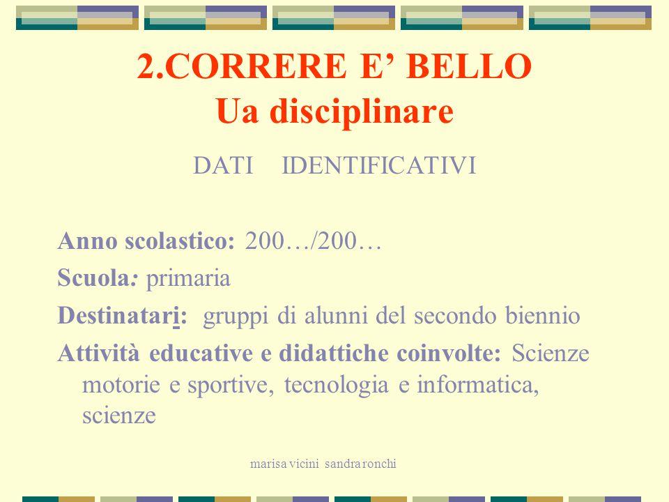 2.CORRERE E' BELLO Ua disciplinare