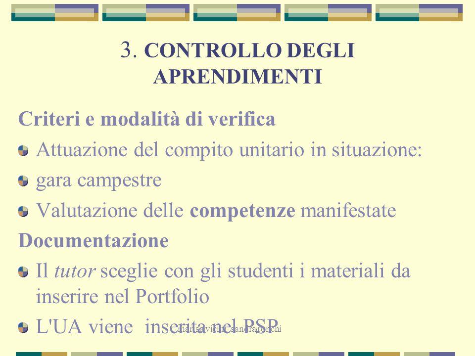 3. CONTROLLO DEGLI APRENDIMENTI
