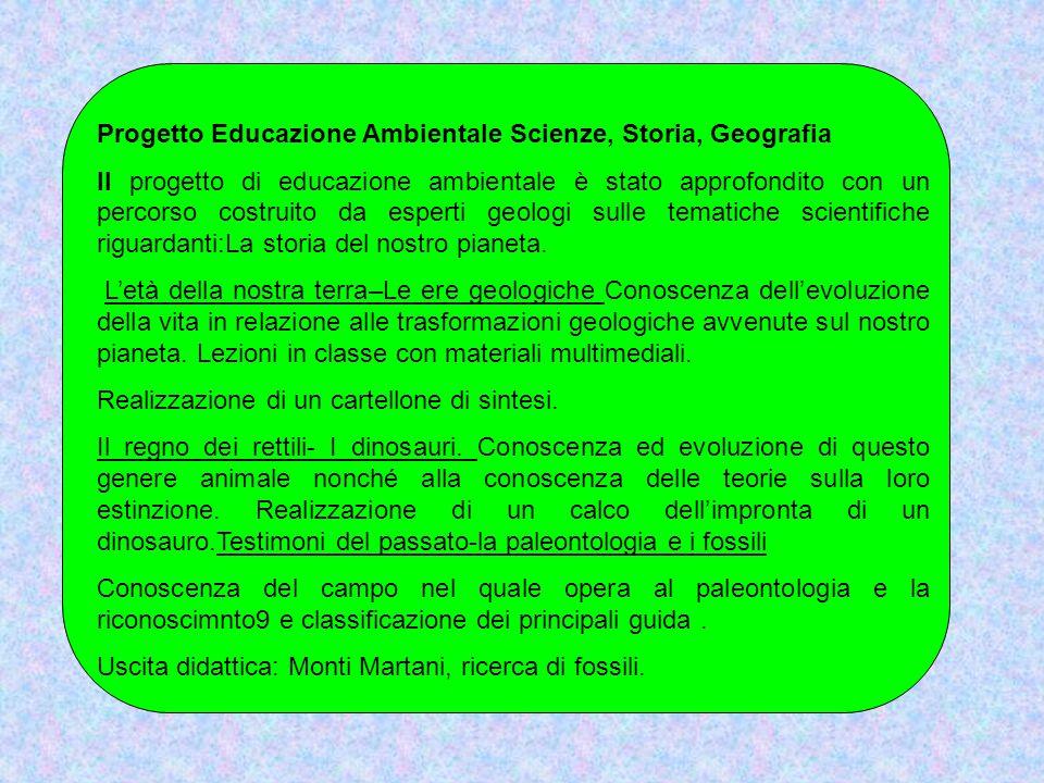 Progetto Educazione Ambientale Scienze, Storia, Geografia