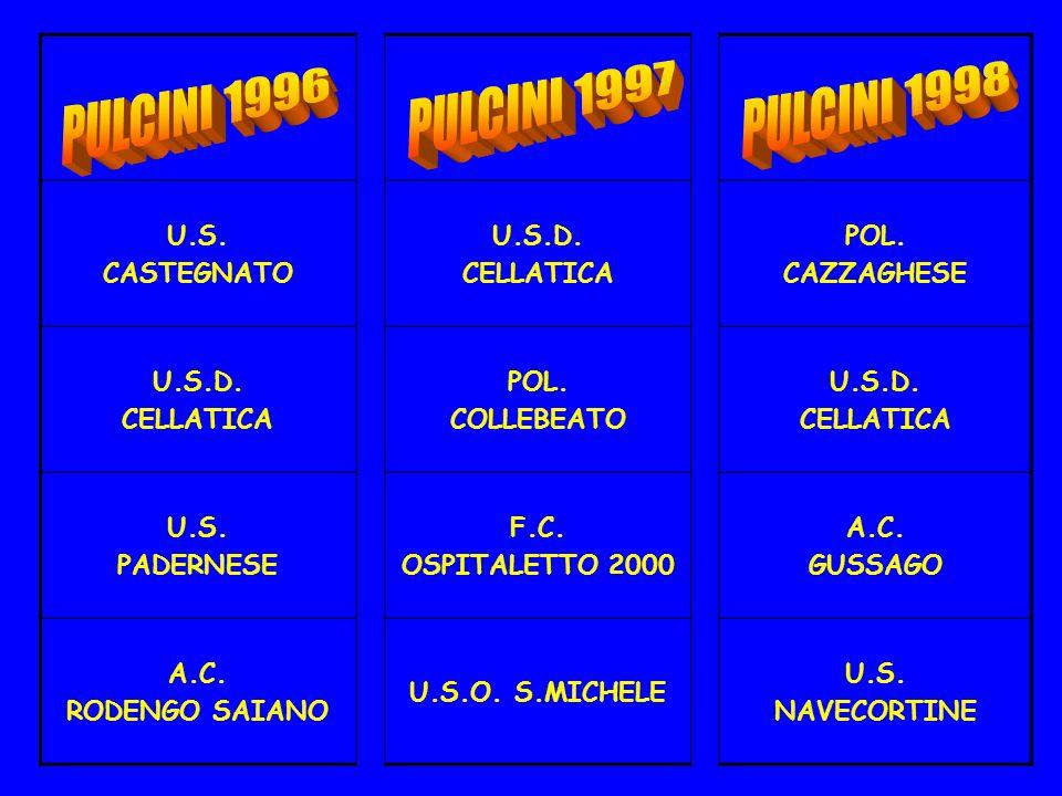 PULCINI 1996 PULCINI 1997 PULCINI 1998 U.S. CASTEGNATO U.S.D.