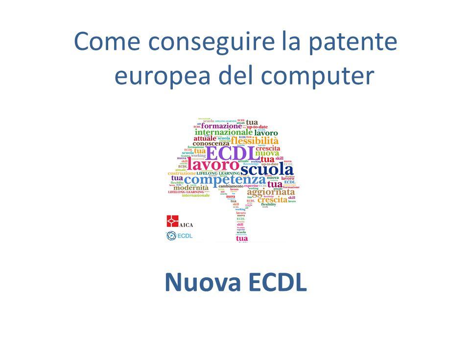 Come conseguire la patente europea del computer Nuova ECDL