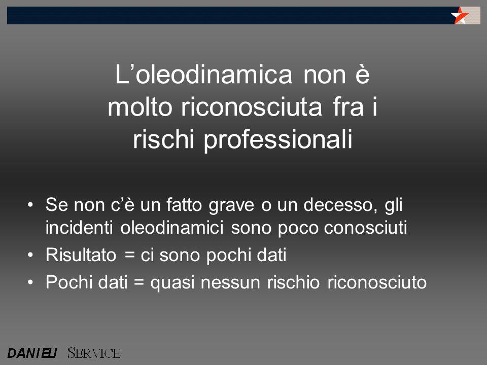 L'oleodinamica non è molto riconosciuta fra i rischi professionali