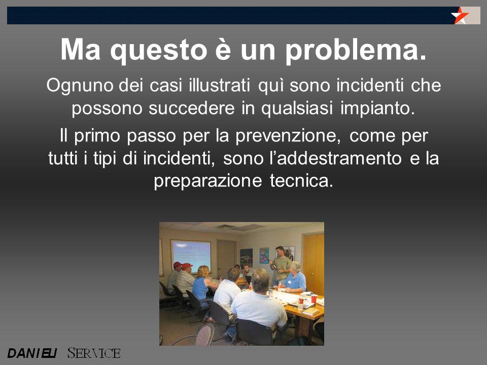 Ma questo è un problema. Ognuno dei casi illustrati quì sono incidenti che possono succedere in qualsiasi impianto.