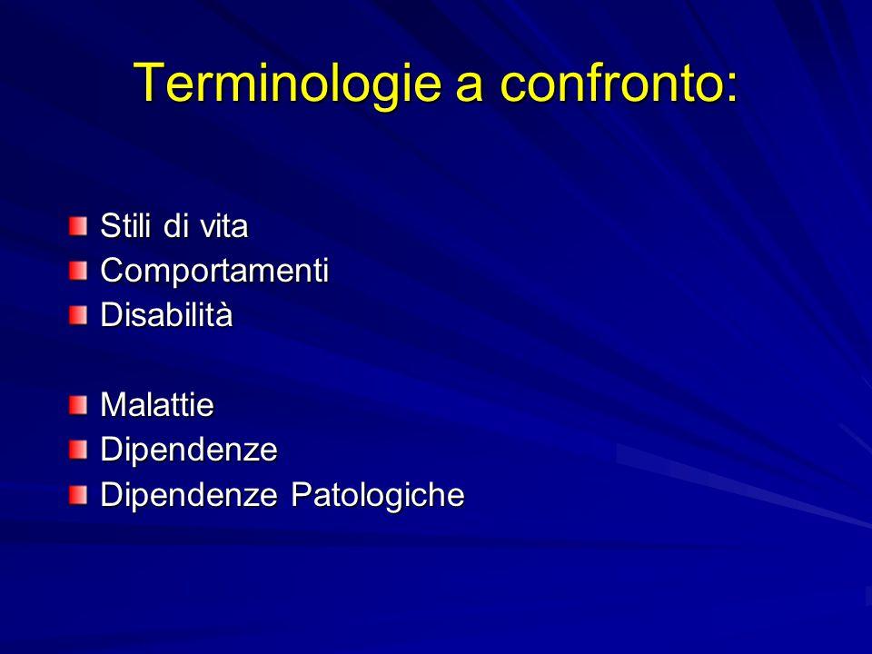 Terminologie a confronto: