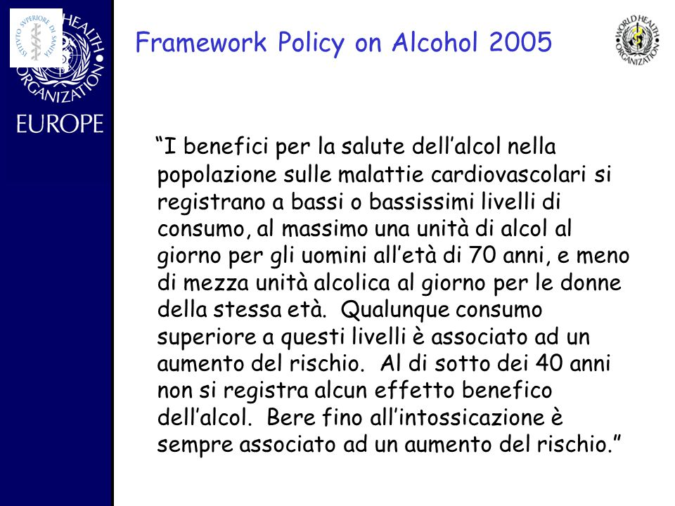 Framework Policy on Alcohol 2005