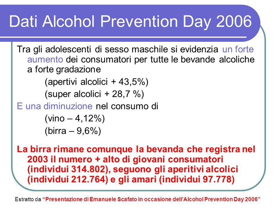 Dati Alcohol Prevention Day 2006