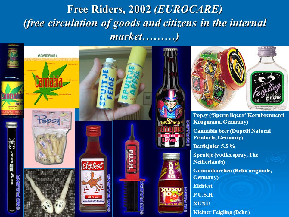 Free Riders, 2002 (EUROCARE) (free circulation of goods and citizens in the internal market………)