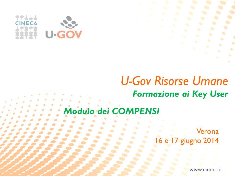 U-Gov Risorse Umane Formazione ai Key User Modulo dei COMPENSI