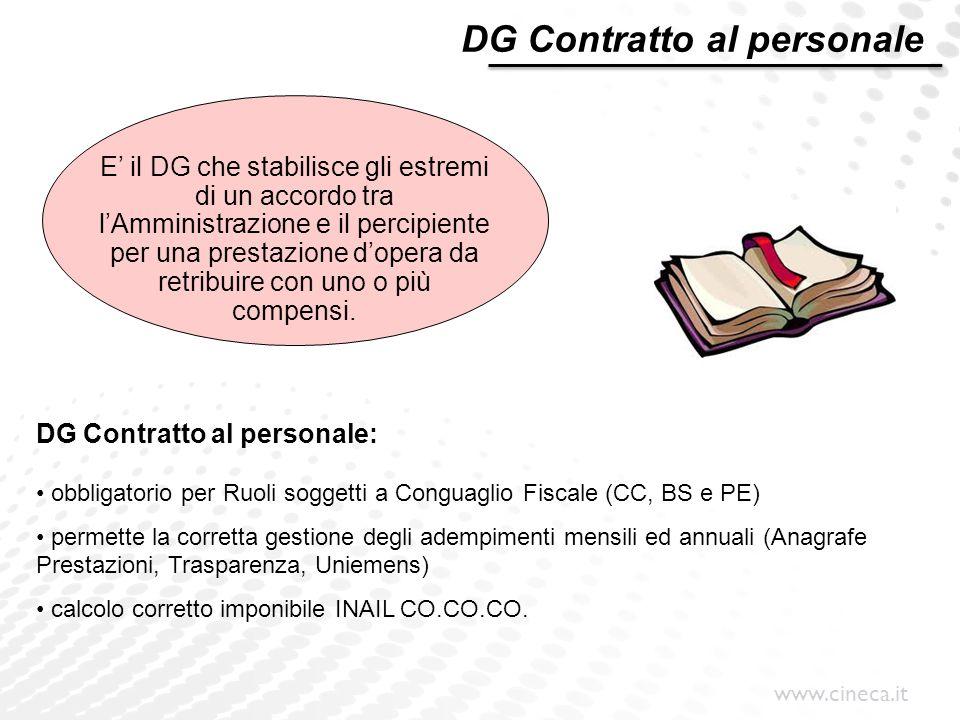 DG Contratto al personale