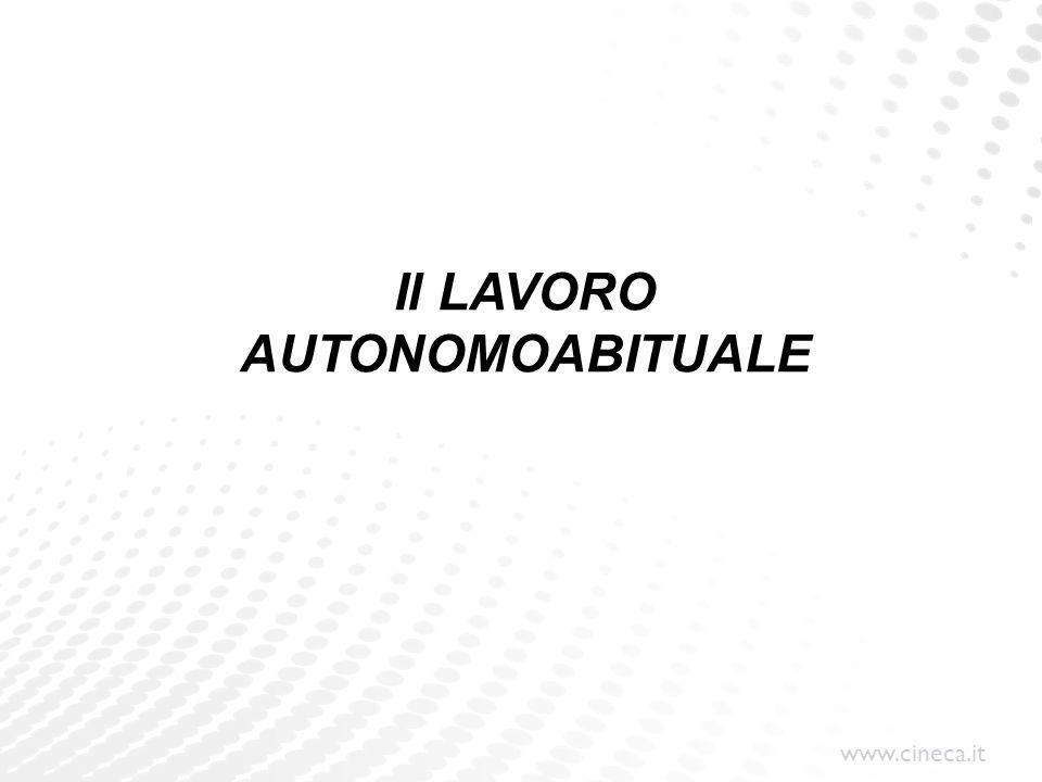 Il LAVORO AUTONOMOABITUALE