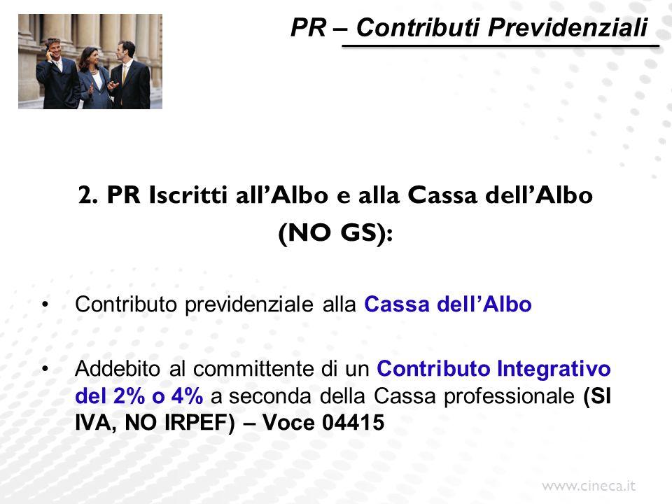 2. PR Iscritti all'Albo e alla Cassa dell'Albo