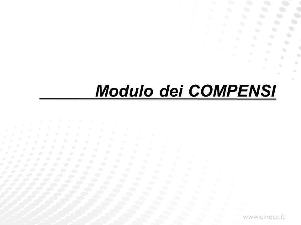 Modulo dei COMPENSI