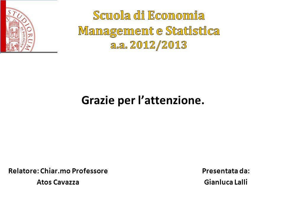 Scuola di Economia Management e Statistica a.a. 2012/2013