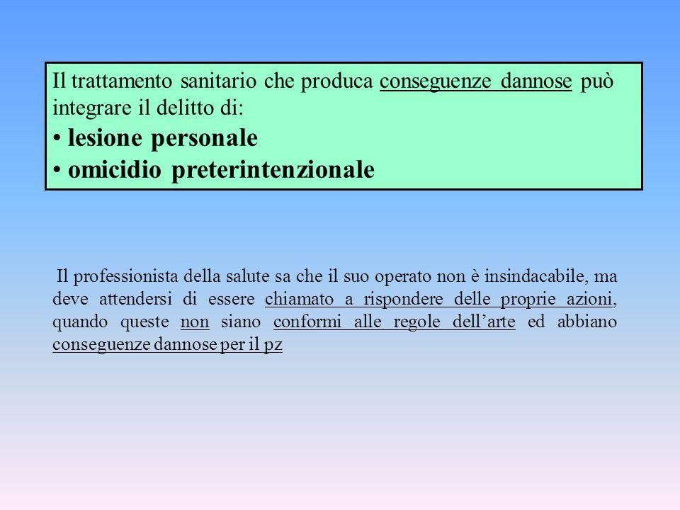 omicidio preterintenzionale