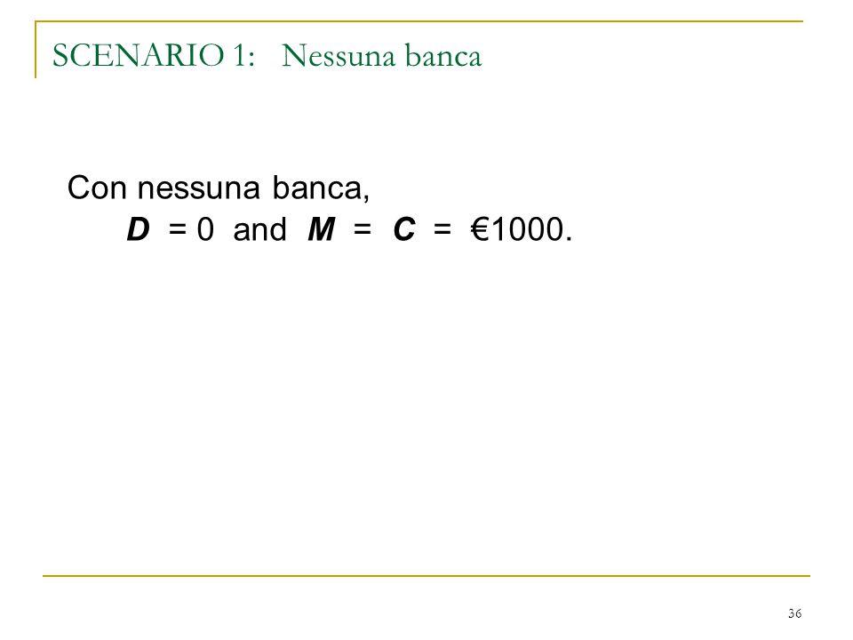 SCENARIO 1: Nessuna banca