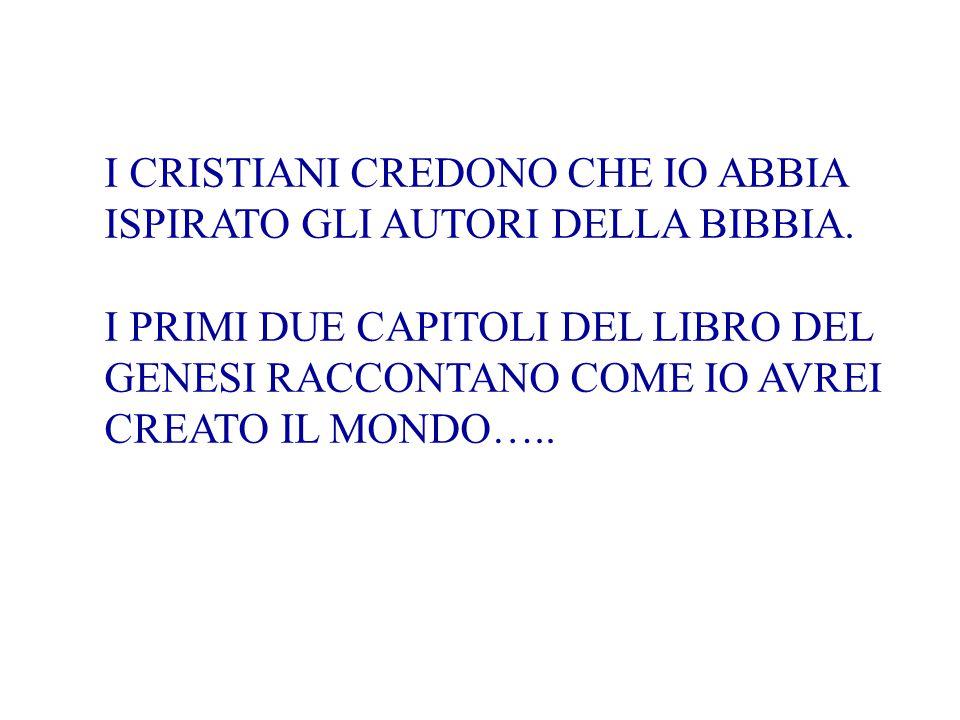 I CRISTIANI CREDONO CHE IO ABBIA ISPIRATO GLI AUTORI DELLA BIBBIA.
