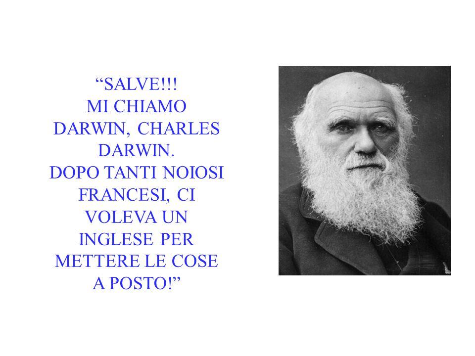 MI CHIAMO DARWIN, CHARLES DARWIN.