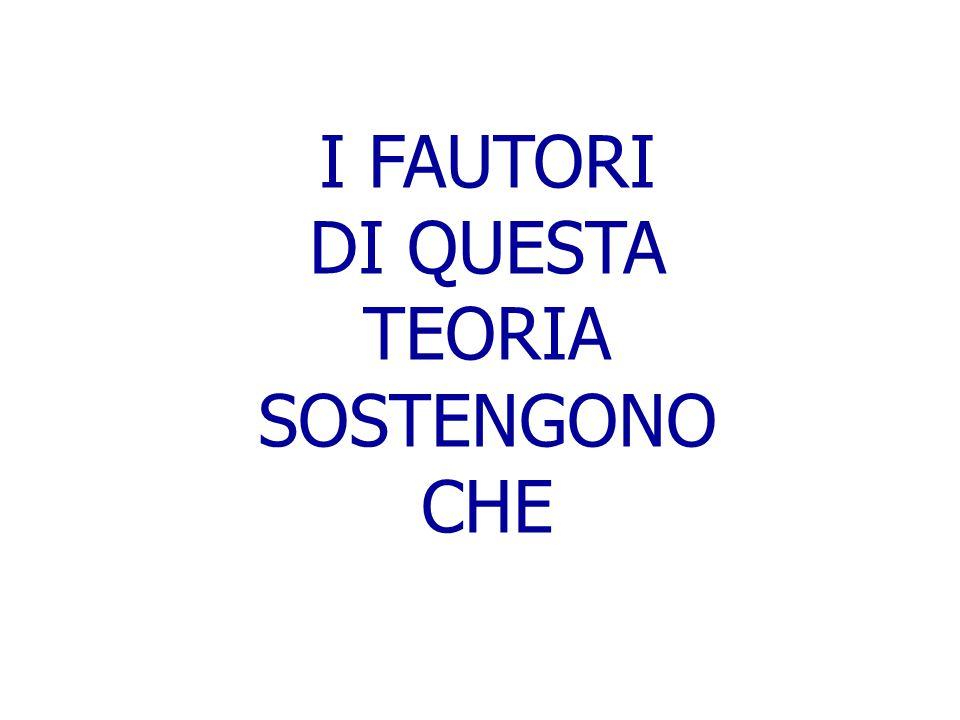 DI QUESTA TEORIA SOSTENGONO CHE