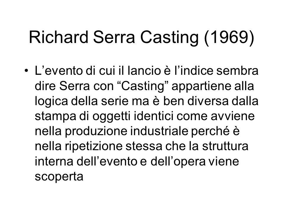 Richard Serra Casting (1969)